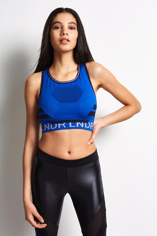 LNDR Chase Seamless High-Impact Sports Bra - Blue image 1 - The Sports Edit