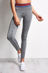 LNDR Tempo Legging Grey Marl image 1 - The Sports Edit