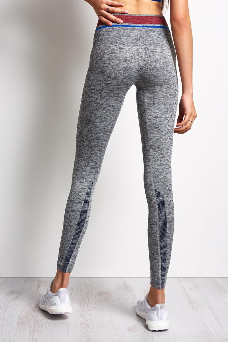 LNDR Tempo Legging Grey Marl image 2 - The Sports Edit