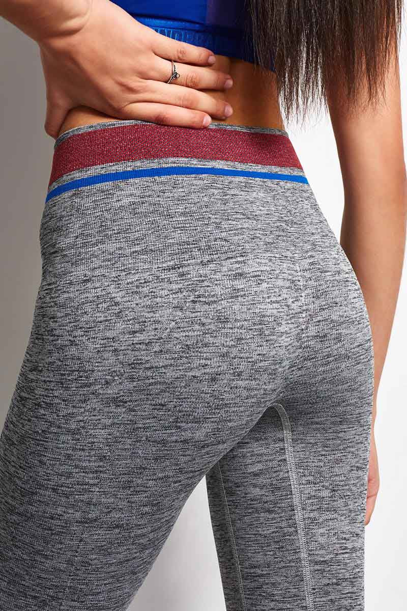 LNDR Tempo Legging Grey Marl image 3 - The Sports Edit