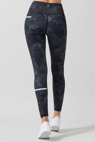 Lilybod Charlie Printed Camo Tech Legging - Camo Jet image 2 - The Sports Edit