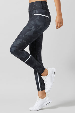 Lilybod Charlie Printed Camo Tech Legging - Camo Jet image 1 - The Sports Edit