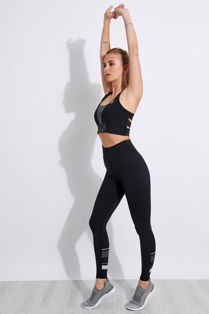 Lilybod Georgia High Waisted Full Length Leggings - Tarmac Black image 4 - The Sports Edit