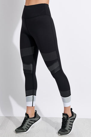 Lilybod Jade-X High Waisted 7/8 Length Leggings - Tarmac Black image 1 - The Sports Edit