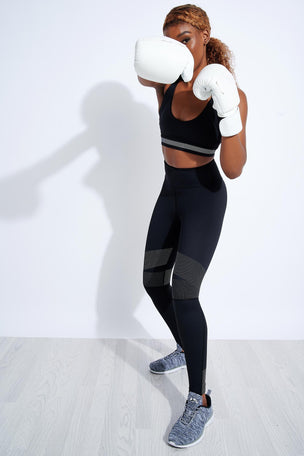 Lilybod Luca-XR Extra High Waisted Mesh Legging - Phantom Jet image 2 - The Sports Edit