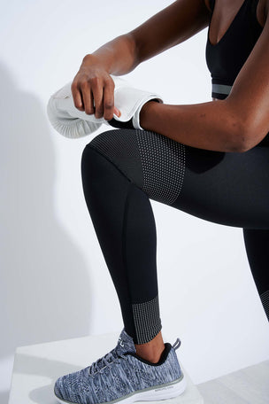 Lilybod Luca-XR Extra High Waisted Mesh Legging - Phantom Jet image 4 - The Sports Edit