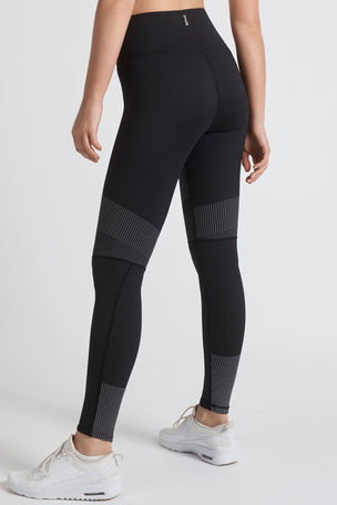Lilybod Luca-XR Extra High Waisted Mesh Legging - Phantom Jet image 6 - The Sports Edit