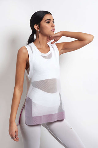 Lucas Hugh Ariel Tank - White image 1 - The Sports Edit