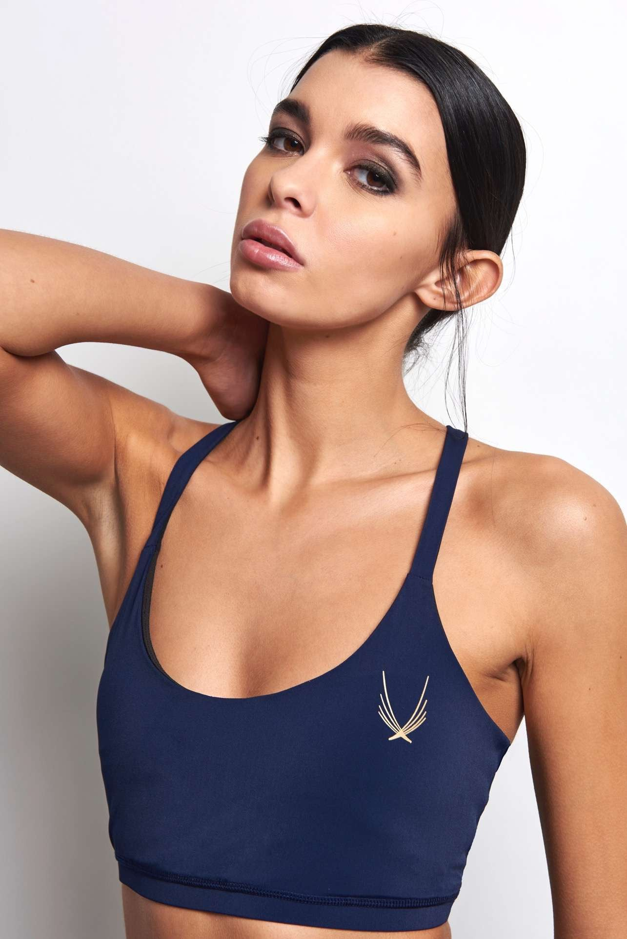 Lucas Hugh Core Performance Cross Back Sports Bra - Midnight image 3 - The Sports Edit