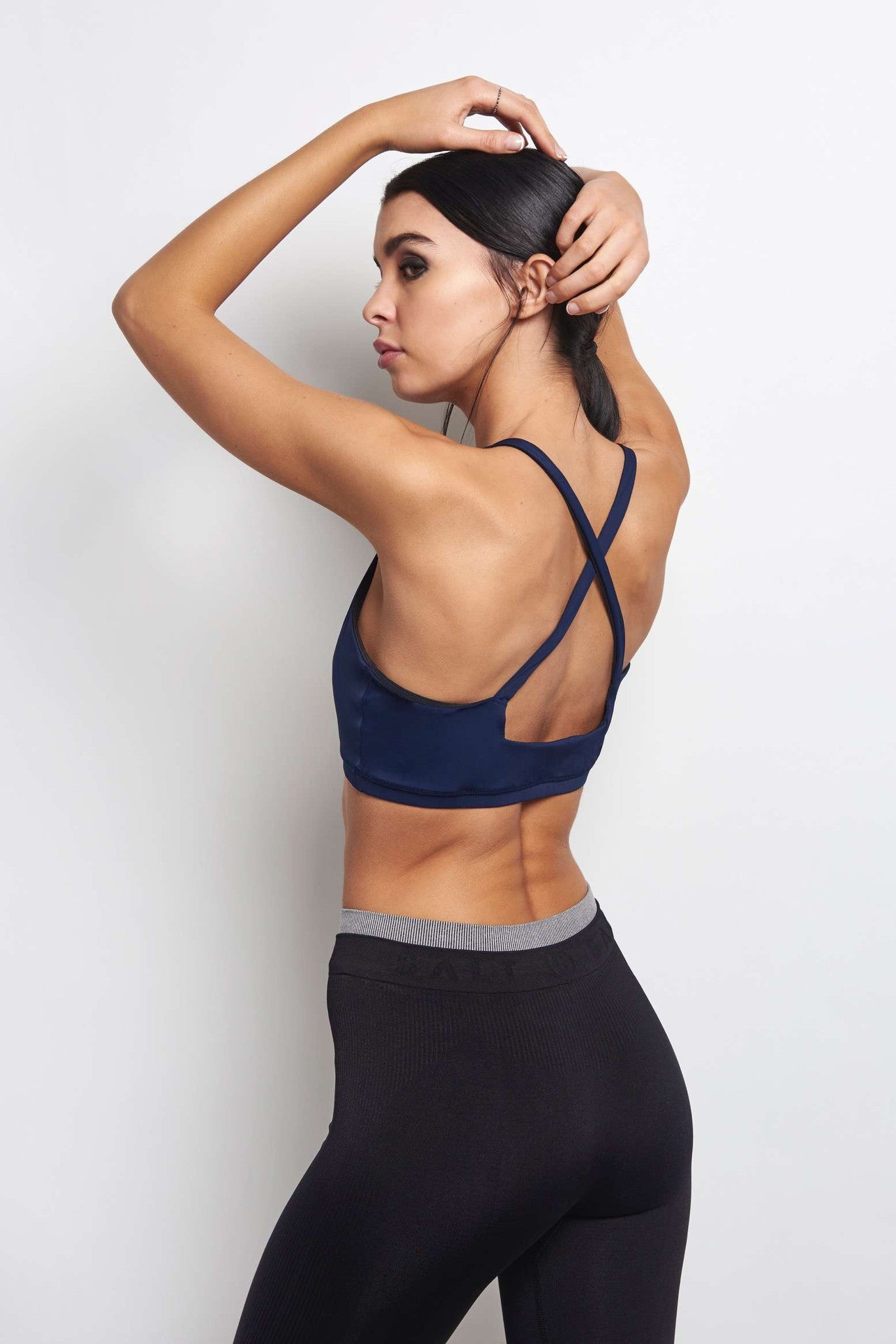 Lucas Hugh Core Performance Cross Back Sports Bra - Midnight image 2 - The Sports Edit