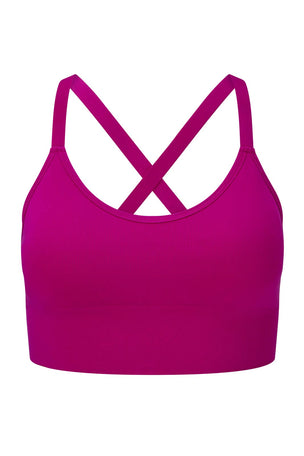 Lucas Hugh Tech Knit Adjustable Bra - Violet image 4 - The Sports Edit