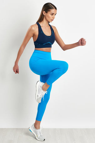 Lucas Hugh Tech Knit 7/8 Leggings - Electric Blue image 5 - The Sports Edit