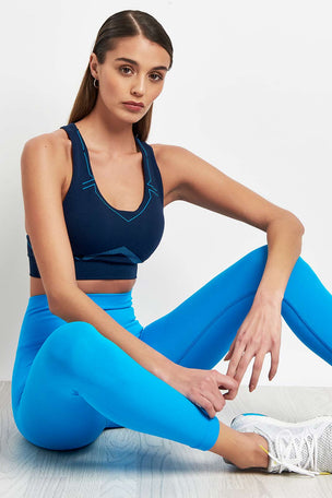 Lucas Hugh Tech Knit 7/8 Leggings - Electric Blue image 3 - The Sports Edit