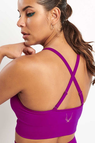 Lucas Hugh Tech Knit Adjustable Bra - Violet image 3 - The Sports Edit