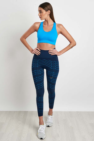 Lucas Hugh Vestige Tech Knit Leggings Marine image 5 - The Sports Edit