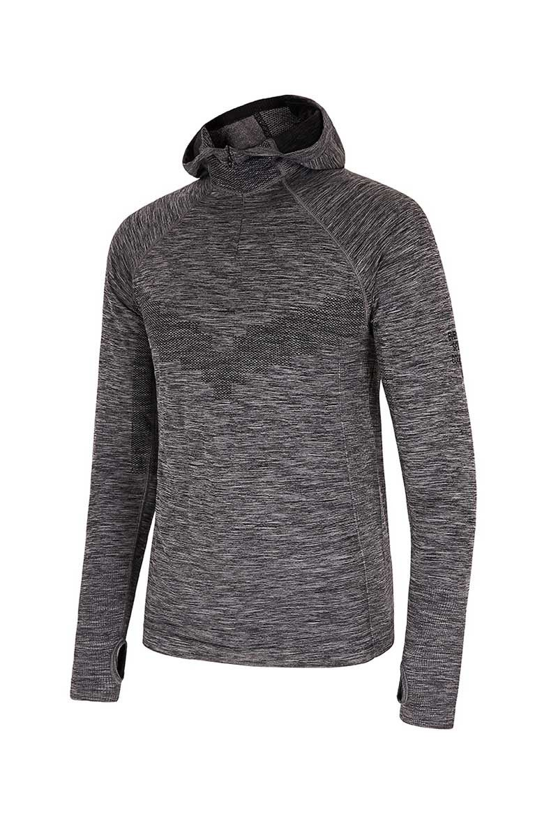 Every Second Counts Make It Count Hoody Grey Marl image 5 - The Sports Edit