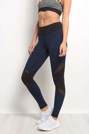 Michi Pulsar Legging - Navy Blue image 1 - The Sports Edit