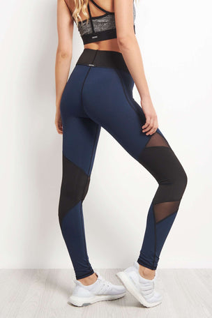 Michi Pulsar Legging - Navy Blue image 2 - The Sports Edit