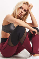 Michi Pulsar Legging - Shiraz image 3 - The Sports Edit