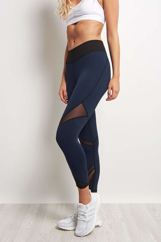 Michi Radiate Crop Legging - Navy/Black image 1 - The Sports Edit