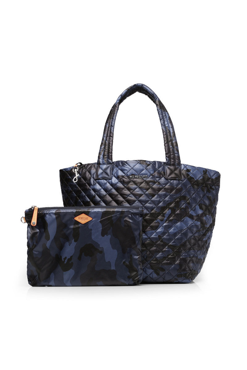 MZ Wallace MZ Wallace Medium Metro Tote - Blue Camo image 2 - The Sports Edit