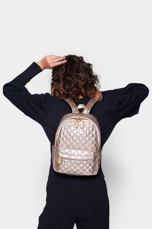 MZ Wallace Small Metro Backpack - Rose Gold image 4 - The Sports Edit