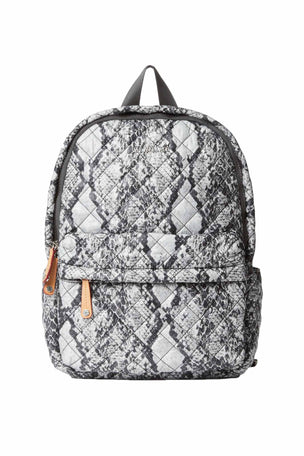MZ Wallace City Backpack - Grey Snake image 1 - The Sports Edit