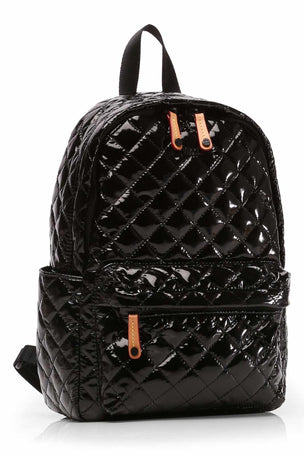 MZ Wallace Small Metro Backpack - Black Lacquer image 2 - The Sports Edit