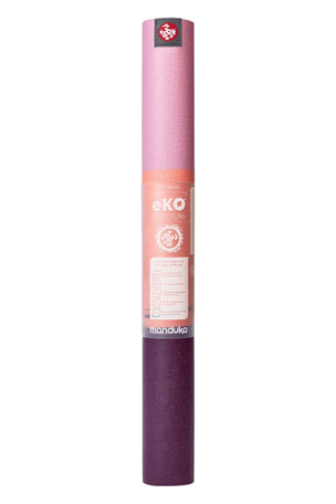 Manduka eKO Superlite Travel Yoga Mat - Fuchsia Stripe image 2 - The Sports Edit