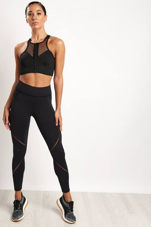 Michi Avalon Zip Bra - Black image 4 - The Sports Edit