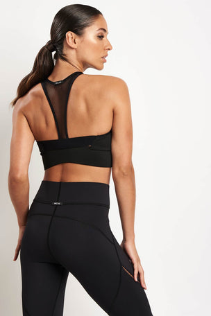 Michi Avalon Zip Bra - Black image 2 - The Sports Edit
