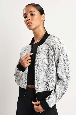 Michi Flash Jacket White Python image 1 - The Sports Edit