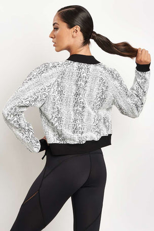 Michi Flash Jacket White Python image 2 - The Sports Edit