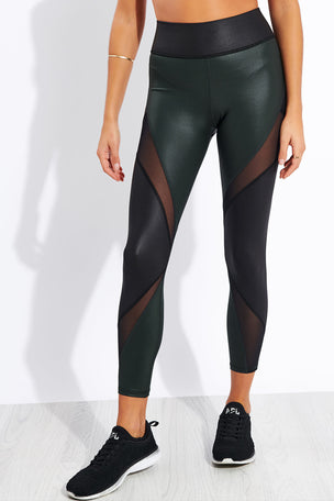 Michi Inversion Rise Legging - Black/Forest image 1 - The Sports Edit
