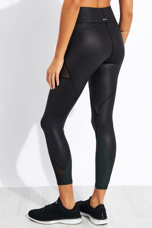 Michi Inversion Rise Legging - Black/Forest image 3 - The Sports Edit