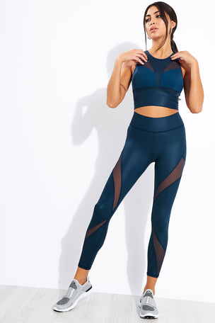 Michi Inversion Rise Legging - Ink image 2 - The Sports Edit