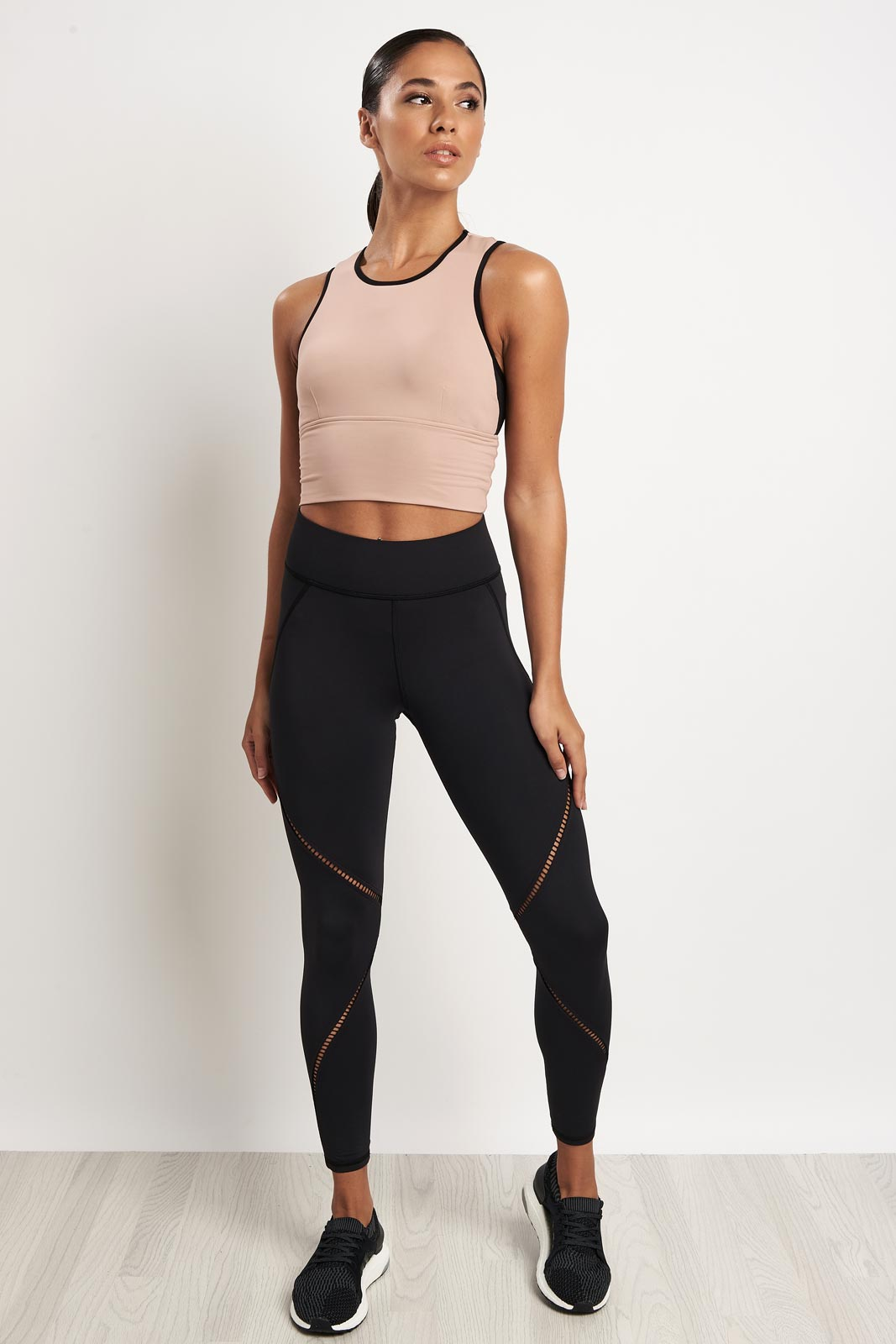 Michi Ignite Crop Top - Nude Pink image 4 - The Sports Edit