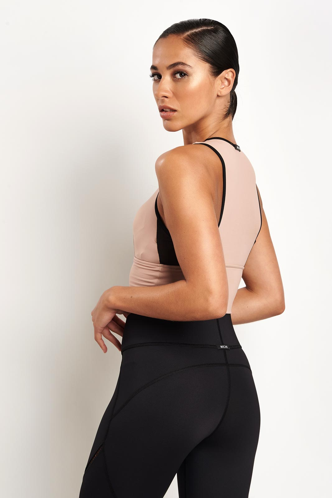 Michi Ignite Crop Top - Nude Pink image 2 - The Sports Edit