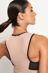 Michi Ignite Crop Top - Nude Pink image 3 - The Sports Edit