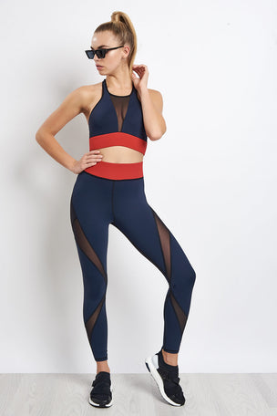 Michi Inversion Bra -  Black/Deep Sea Navy/Fire Red image 5 - The Sports Edit