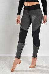 Michi Moto Zip Legging Grey/Black image 1 - The Sports Edit