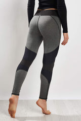 Michi Moto Zip Legging Grey/Black image 2 - The Sports Edit