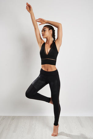 Michi Plunge Crop Top Black image 4 - The Sports Edit