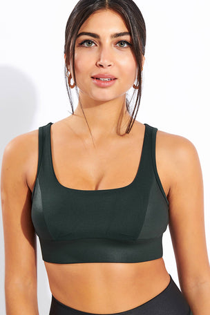 Michi Powerful Bra - Forest image 1 - The Sports Edit