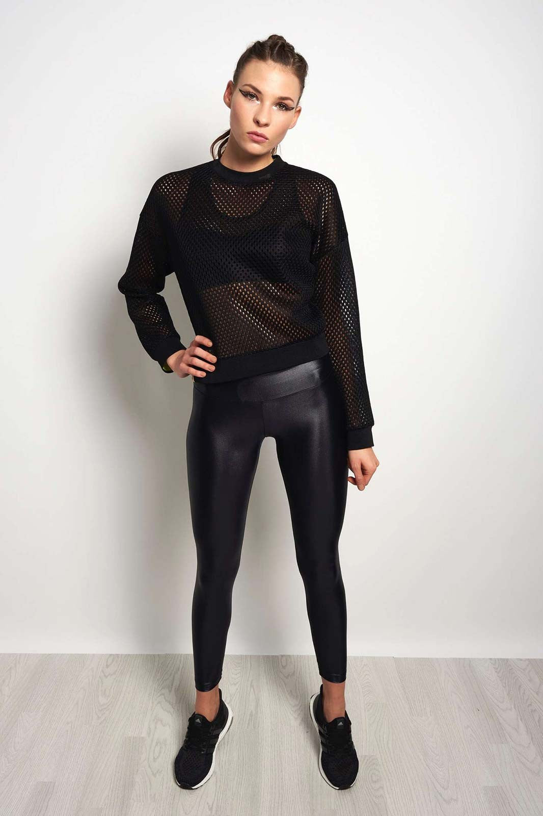 MONREAL Cropped Sweatshirt - Black/Acid image 4 - The Sports Edit