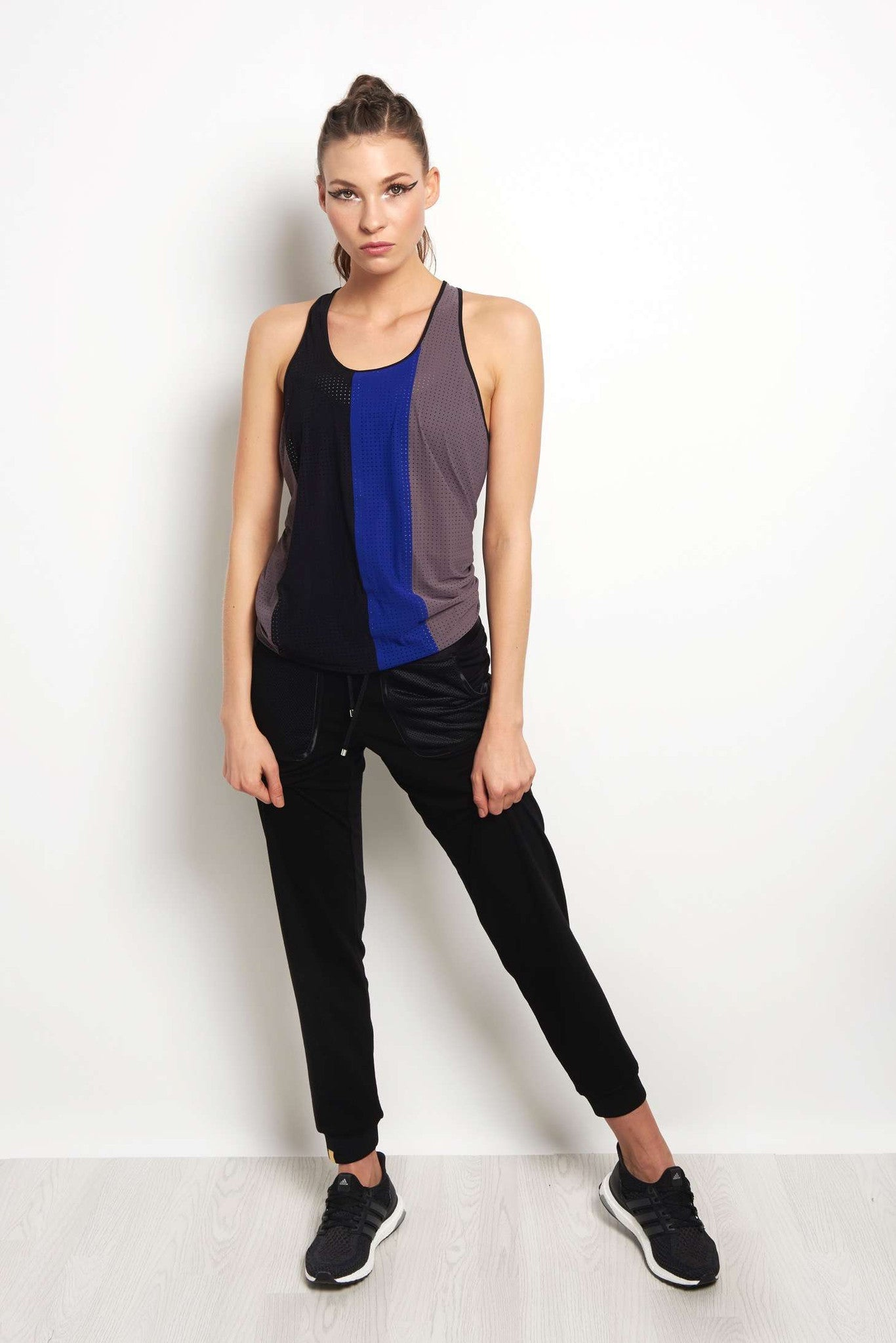MONREAL Racer Tank - Taupe/Joy/Black image 4 - The Sports Edit