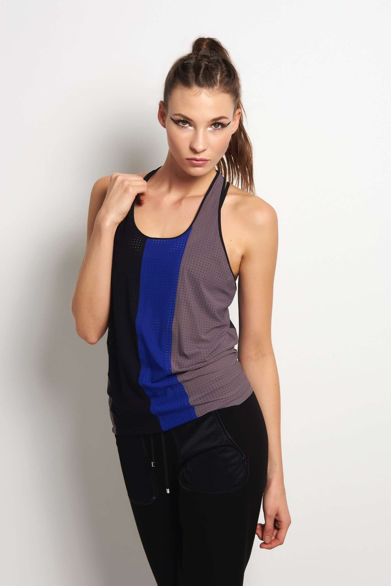 MONREAL Racer Tank - Taupe/Joy/Black image 1 - The Sports Edit