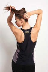 MONREAL Racer Tank - Taupe/Joy/Black image 3 - The Sports Edit