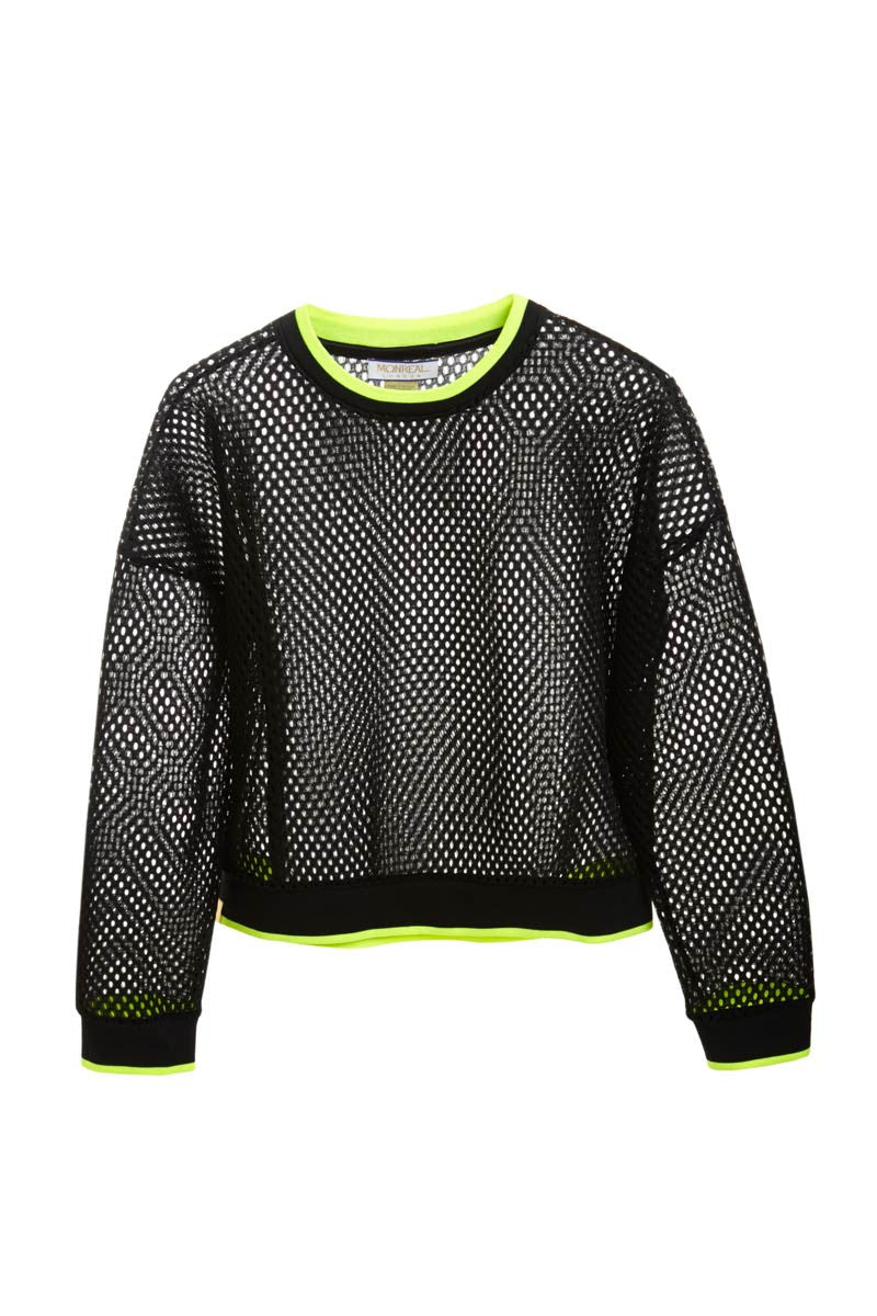 MONREAL Cropped Sweatshirt - Black/Acid image 5 - The Sports Edit