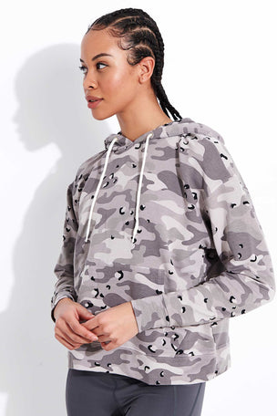 Monrow Desert Camo College Pullover - Acorn image 1 - The Sports Edit